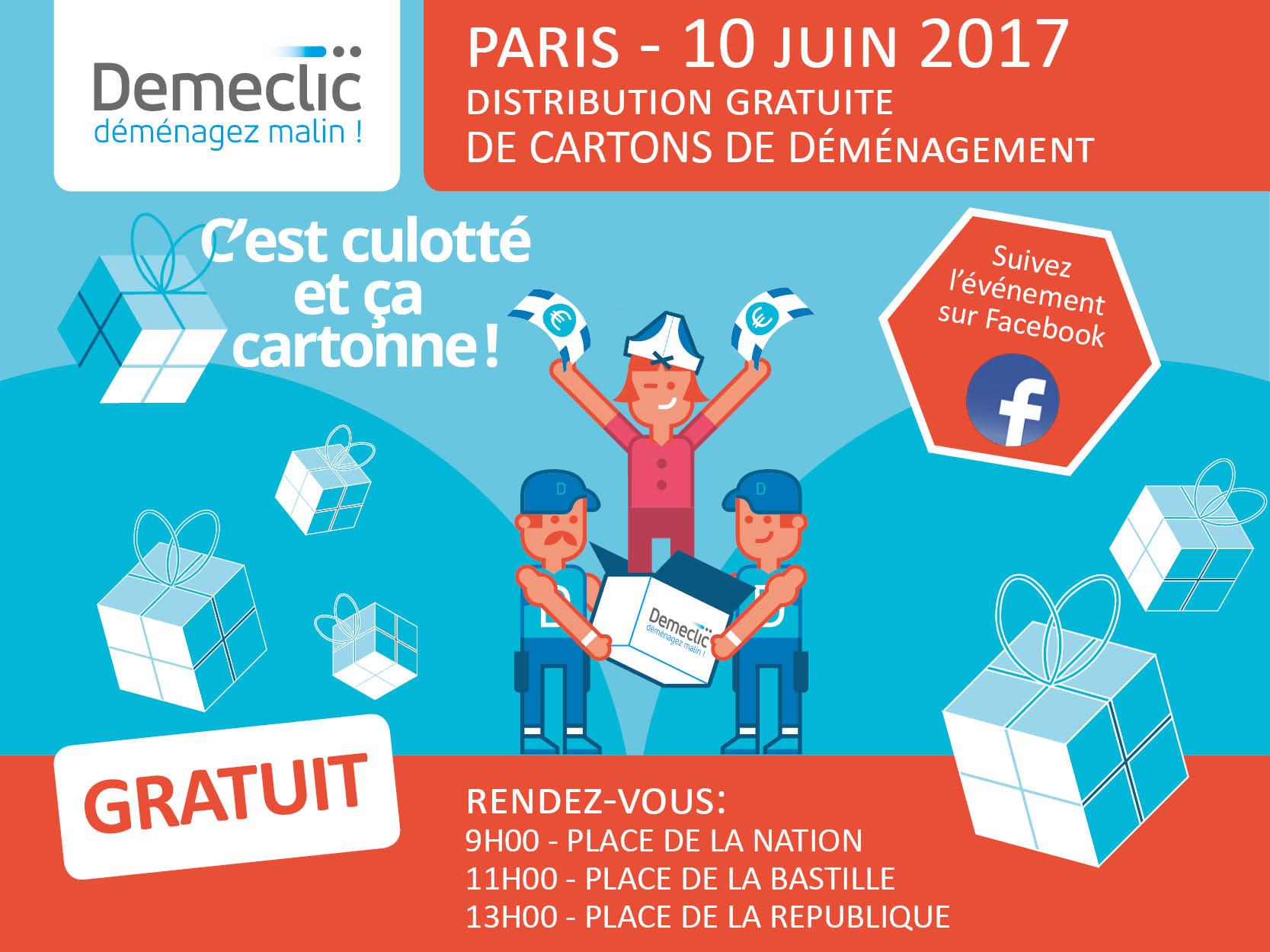 Ça déménage : Déméclic distribue des cartons  gratuits en plein Paris